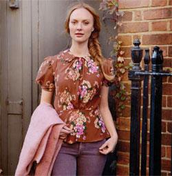 ретро блузка