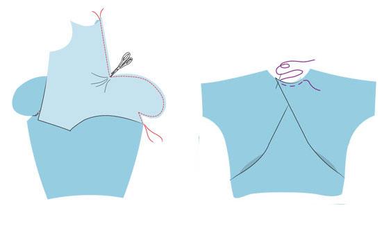 Как сшить платье оригами