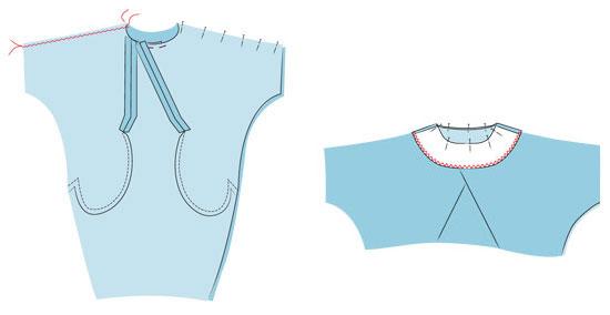 как сшить синее платье