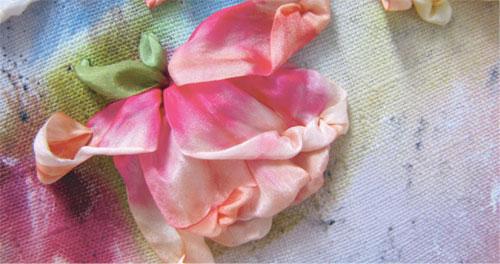 Покрасить ленту для вышивки