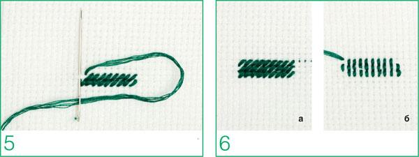вышивка полукрест