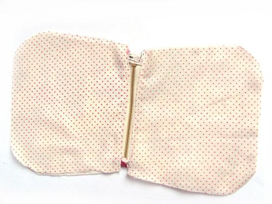 пришивание подкладки
