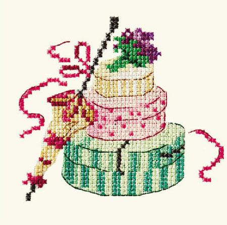 вышитый торт крестом