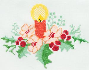 цветы крестом
