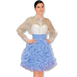 Как сшить юбку с буфами из органзы