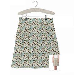 прямая юбка цветочная