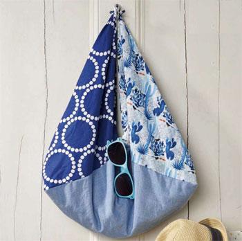 Как сшить простую пляжную сумку