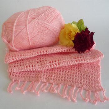 Как связать крючком шарф