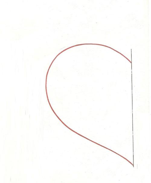 выкройка сердца
