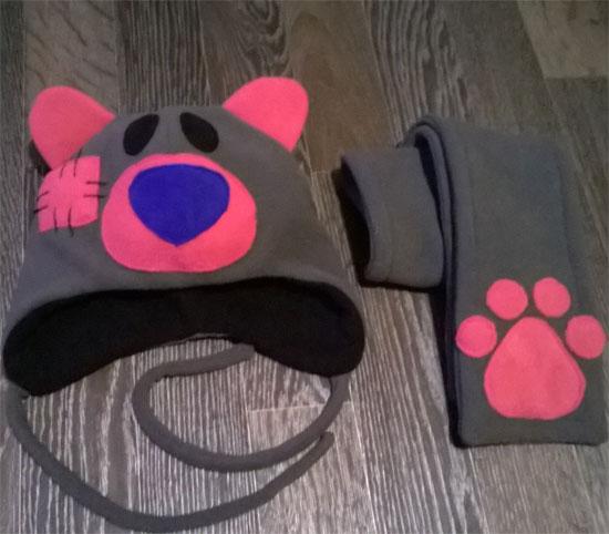 Как сшить шапку и шарф из флиса ребенку