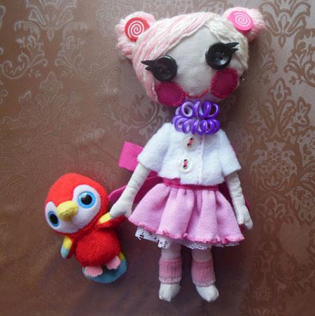 Как сшить куклу из ткани Лалалупси