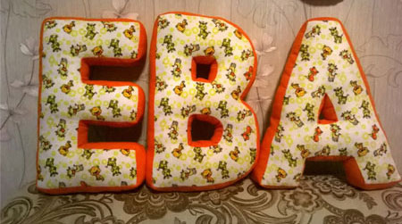 подушки буквы ЕВА