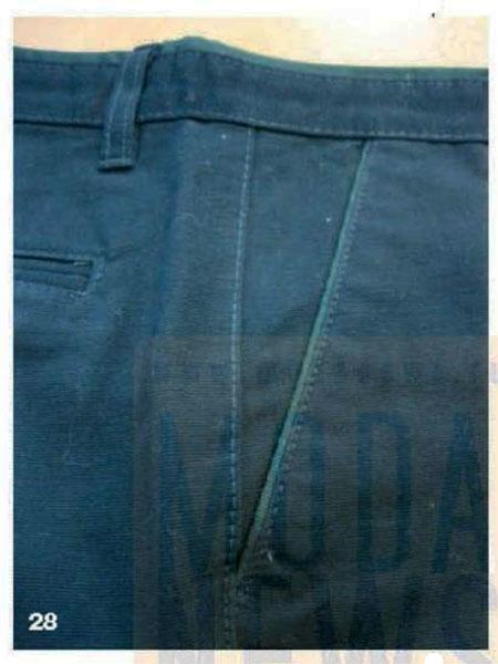 втачные канты мужских брюк