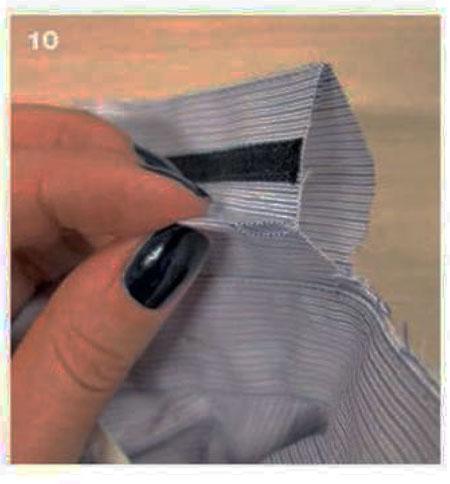 декор воротника мужской сорочки