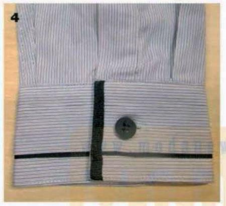 сорочка мужская отделка манжет