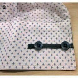 отделка манжеты сорочки мужской