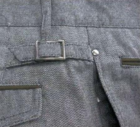 Оригинальные отвороты, обтачки, втачные канты мужских брюк