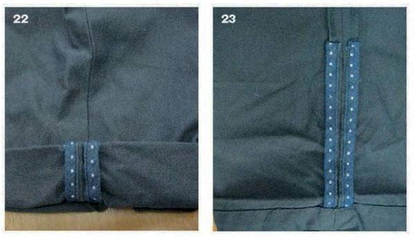 отделка отворотов брюк
