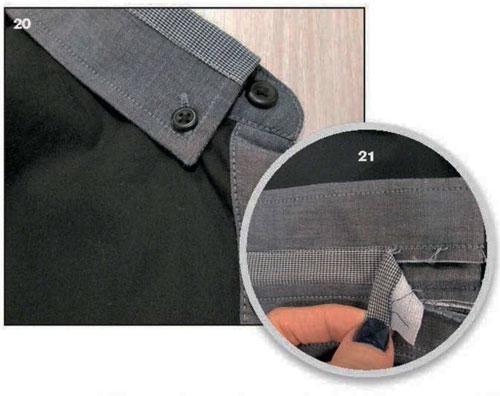 отделка мужской одежды декор
