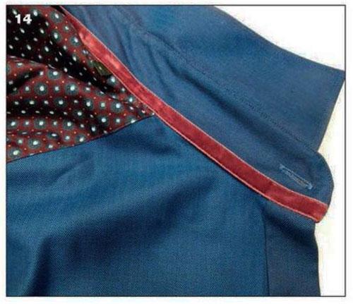 Отделочная ткань, канты и тесьма в мужской одежде