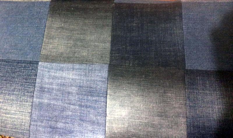 узор из джинсов квадраты