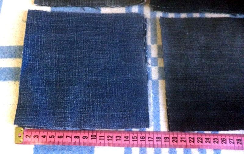 квадраты из джинсов