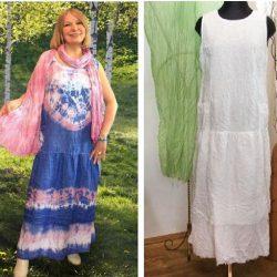 как покрасить платье до и после