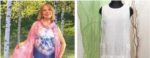 Как сшить и покрасить платье, узловой батик