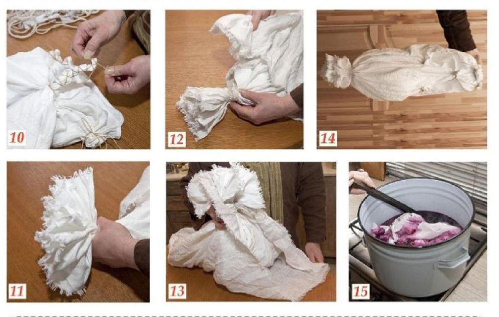 как покрасить платье батик