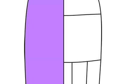 выкройка основа юбки