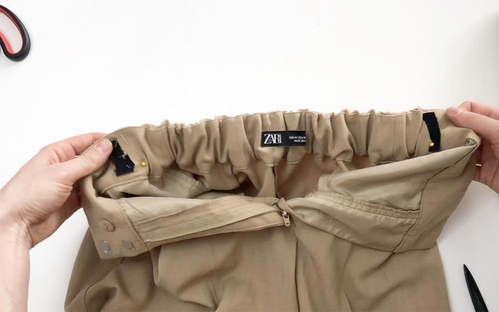 ушить брюки в талии